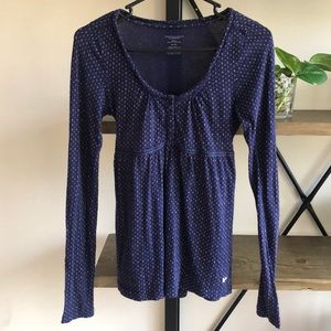 Baby Doll Navy Blouse